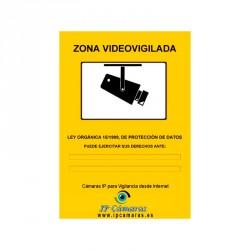 Cartel Zona Videovigilada...